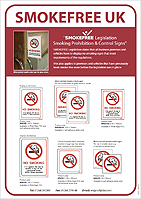 SMOKEFREE-UK White Signs