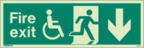 4033U - Jalite Mobility Impaired Fire Exit Sign