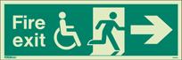 4034U - Jalite Mobility Impaired Fire Exit Sign
