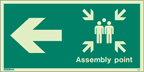 4051I - Jalite Assembly Point Arrow Left Fire Safety Sign