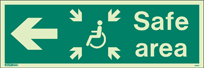4653U - Jalite Fire Exit Double Sided Sign