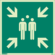 4997Q - Jalite Assembly Point Fire Safety Sign
