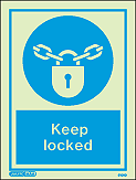 5106D - Jalite Keep Locked Sign