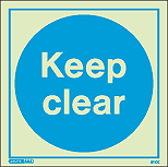 5110E - Jalite Keep Clear Sign