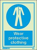 5164D - Jalite Wear protective Clothing Sign