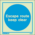 5485C - Jalite Escape Route Keep Clear Sign