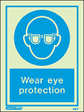 5497D - Jalite Wear Eye Protection Sign