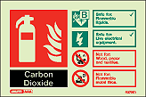 6372ID - Jalite CO2 Fire Extinguisher Identification Signs