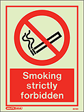 8014D - Jalite Smoking Strictly Forbidden Sign