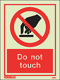 8016D - Jalite Do not touch Sign