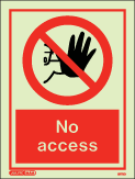 8172D - Jalite No Access Sign